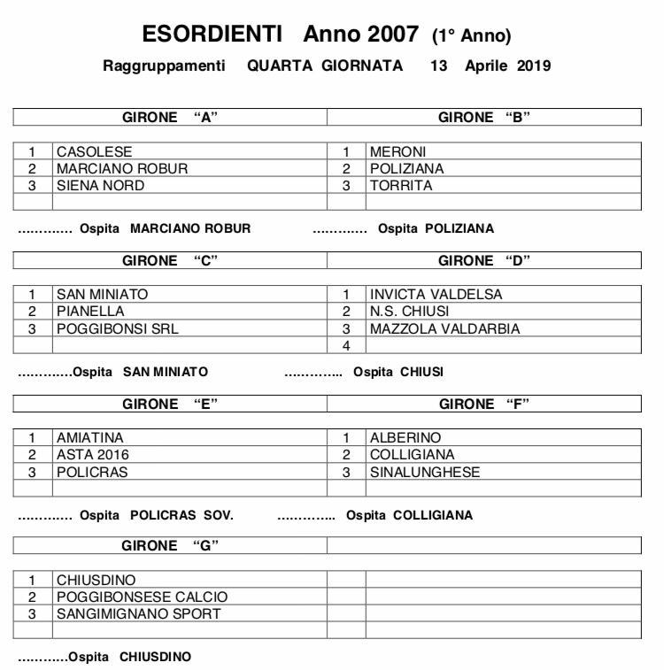 Calendario Settembre 2007.Calendario Esordienti B G S Alberino A S D
